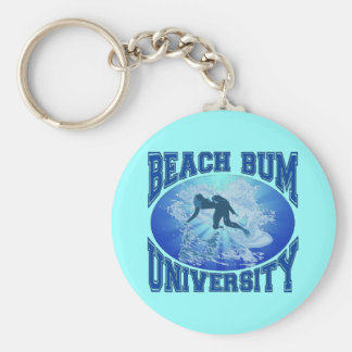 Beach Bum University Key Chain