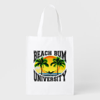 Beach Bum University Grocery Bag