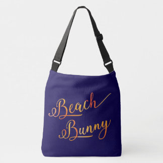 Beach Bunny Stylized Peach Color Tropical Vacation Crossbody Bag