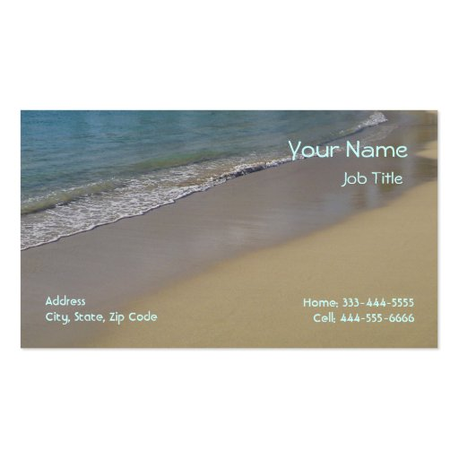 Beach Business Cards