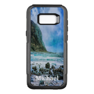 Beach by the ocean a rainy day OtterBox commuter samsung galaxy s8+ case