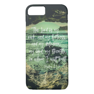 Beach Cave with Psalms Bible Verse iPhone 8/7 Case