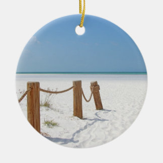 Beach Ceramic Ornament