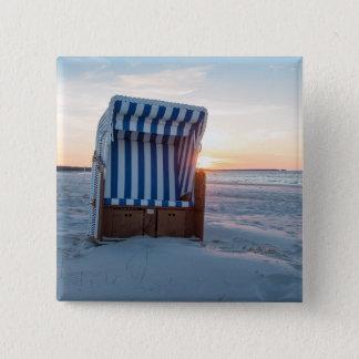 Beach chair 15 cm square badge