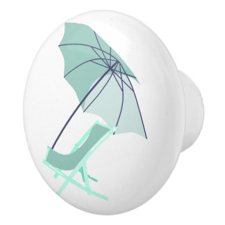 Beach Chair Beach House Umbrella Mint Door Knob
