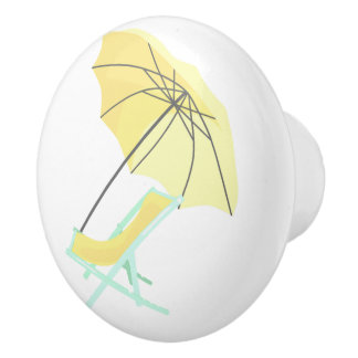 Beach Chair Beach House Umbrella Yellow Door Knob