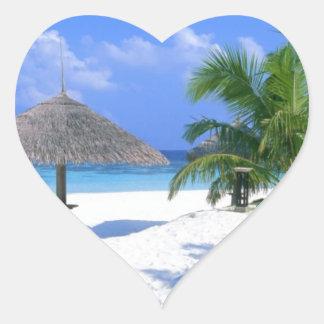 Beach Chair - Summer Bliss Heart Sticker