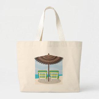 Beach Chairs Jumbo Tote Bag