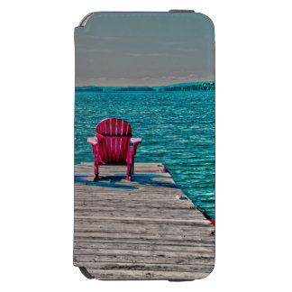 beach chairs on dock at cottage incipio watson™ iPhone 6 wallet case