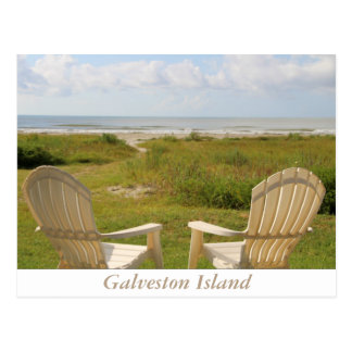 Beach Chairs on Galveston Island Postcard