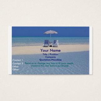 Beach Chairs on Sandbar business card II