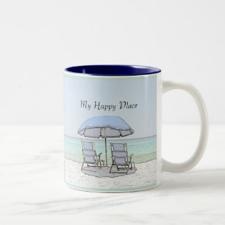 Beach Chairs Two-Tone Coffee Mug