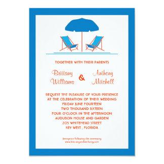 Beach Chairs Wedding Invitation