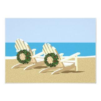 Beach Chairs & Wreaths Custom Invite