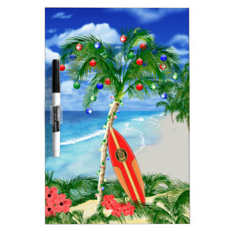 Beach Christmas Dry-Erase Whiteboards