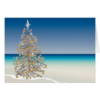 Beach Christmas Greeting Card