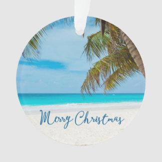Beach Christmas Ornaments Acrylic Palm Tree