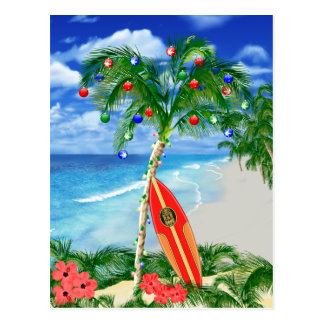 Beach Christmas Postcard