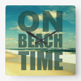 BEACH ClOCK WITH SAYING