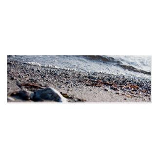 Beach close up business card template