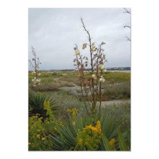 Beach Clouds and Wildflowers - Oak Island, NC 13 Cm X 18 Cm Invitation Card
