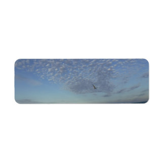 Beach Clouds Return Address Label