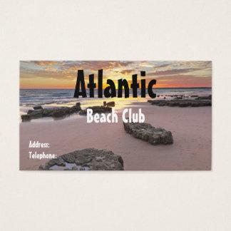 Beach Club Business Card. Summer theme Business Card