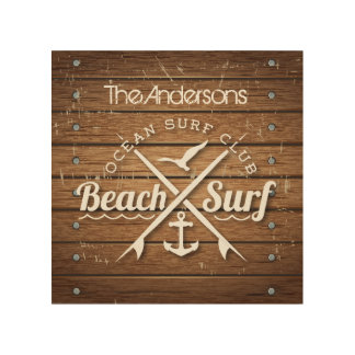 Beach Club Wood Wall Art