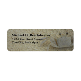 Beach Coastal Crab Return Address Label