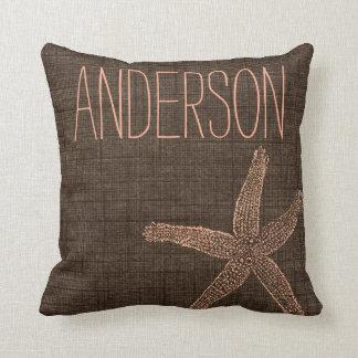 Beach Collection Starfish Custom Name Cushion