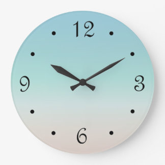 Beach Colors Gradient Numbers Large Clock