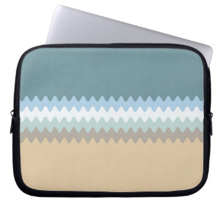 Beach Colors Light Brown/Sand/Beige/Turquoise/Blue Laptop Sleeve