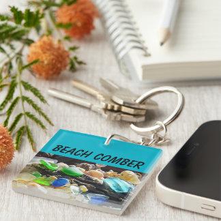 Beach Comber gifts Seaglass Key Chain custom