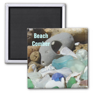 Beach Comber magnets Seaglass Sea Glass Fossils