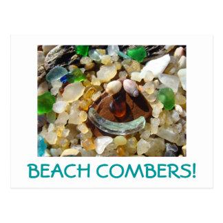 BEACH COMBERS! postcards Agates Seaglass Shells