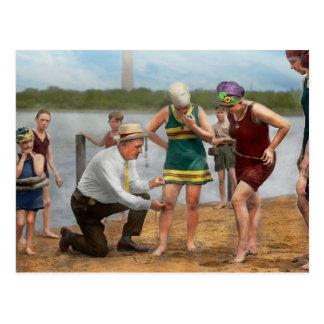 Beach - Cop a feel 1922 Postcard
