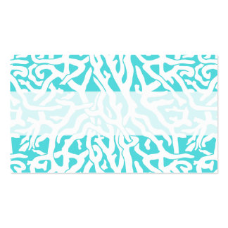 Beach Coral Reef Pattern Nautical White Blue Pack Of Standard Business Cards