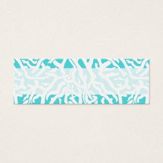 Beach Coral Reef Pattern Nautical White Blue Mini Business Card