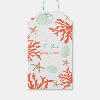Beach Coral Reef Sea Shell & Starfish Gift Tags