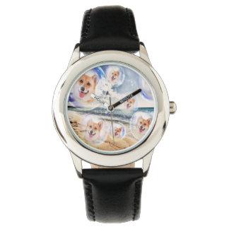 Beach Corgis Wristwatches