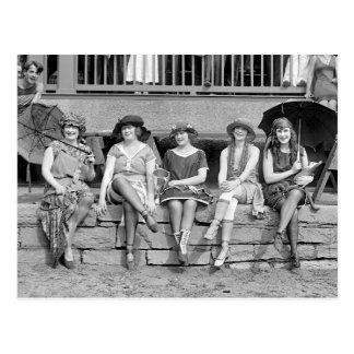 Beach Costume Contest, 1921 Postcard