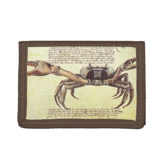 Beach Crab Calligraphy Wildlife Art Animal Wallet