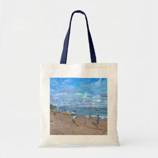 Beach cricket Abersoch 2013 Tote Bag