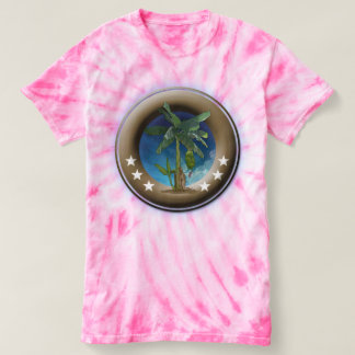 Beach cyclone in batik for woman, Rosa T-Shirt