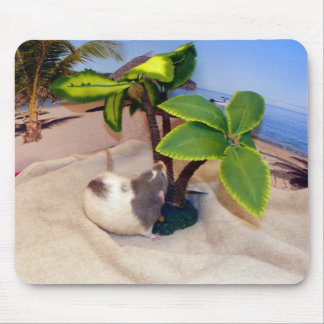 Beach Day Fun Pet Rat Mousepad