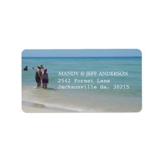 Beach Days Address Labels