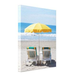 Beach Deck Chair Holiday Canvas Print