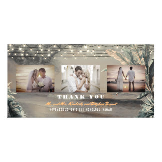 Beach Destination Tropical Wedding Thank You Card