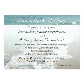 Beach Destination Wedding Invitation, Aqua Surf Card