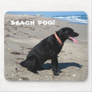 beach dog! mouse pad